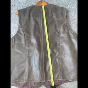 First Gear Jackets & Coats - Mens Brown Leather Vest Size XL First Gear